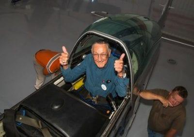 Charlie Flies in a P-51