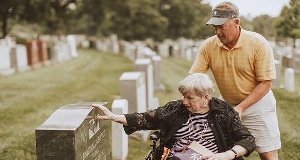 Wilhelmina Visits her Brother's Grave