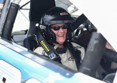 Ginny Rides in a NASCAR Race Car