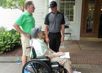 Noreen attends Travelers Championship and meets Rory McIlroy