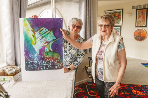 Mary & Cheryl Reconnect to Make Art