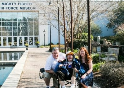 Jimbo visits the National Museum of the Mighty Eighth Air Force
