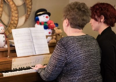 Judy Touches the Keys to Happiness in First Piano Performance