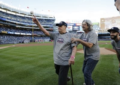 Former NY Firefighter Throws First-Pitch at Yankee Stadium