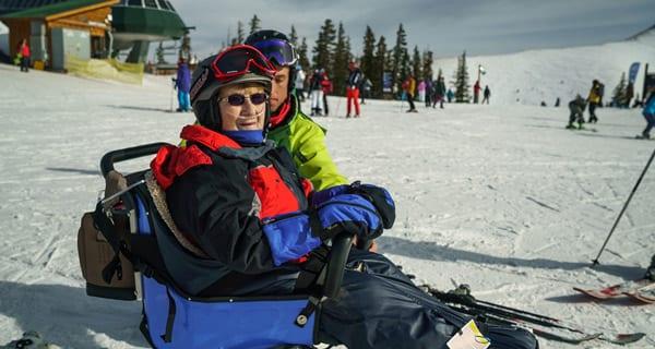 Eleanor Skis Keystone Slopes with Olympic Athlete Jeremy Bloom