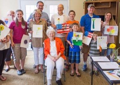 Mary Lou Teaches an Art Class