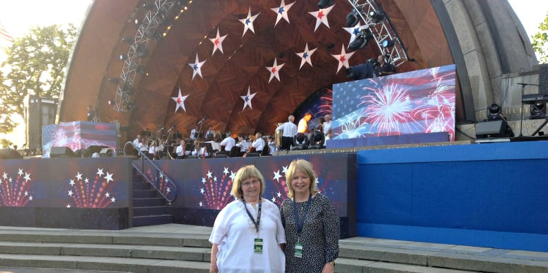 Susan Attends Boston Pops Orchestra as a VIP