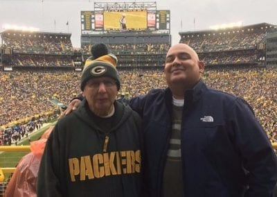 Sam and Son See Packer's Play At Lambeau Field