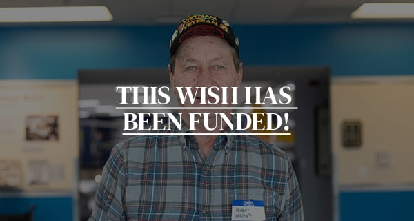 Click to Fund Robert's Wish to Visit Washington D.C.